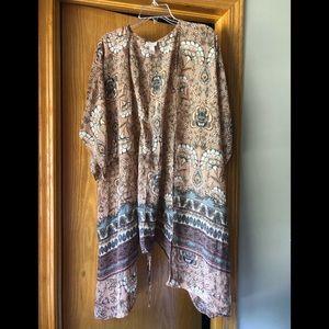 Long sheet kimono duster coverup XS